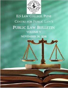Public Law Bulletin Volume V