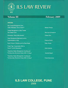 ILS Law Review Volume III